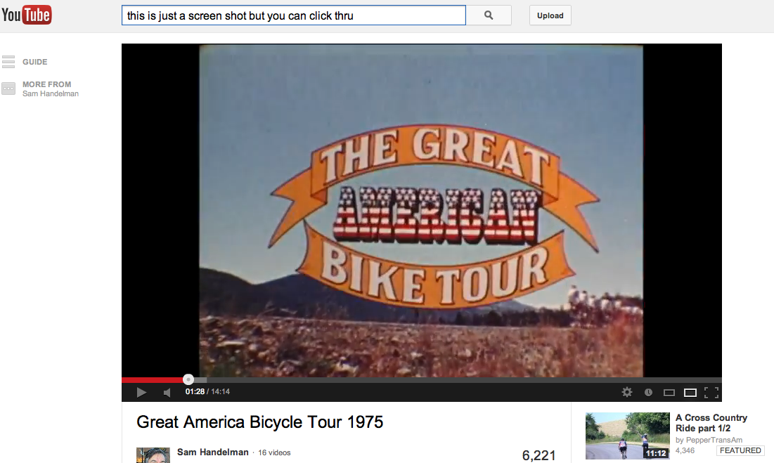 Great American Bike Tour 1975